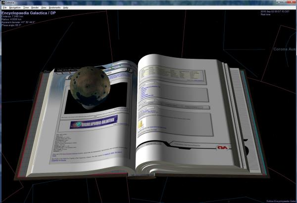 Encyclopaedia with 3D images