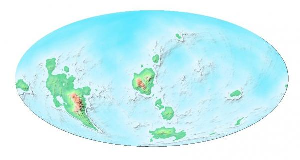 Eostremonath Mollweide projection