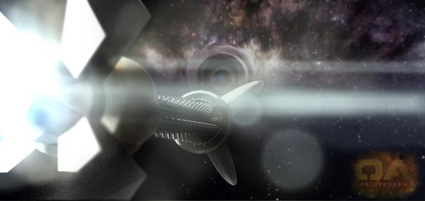 Horus approaching wormhole