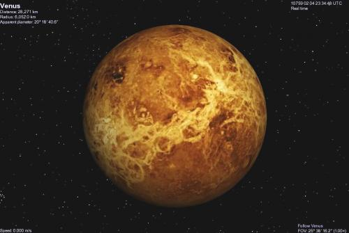 Venus before terraforming no clouds