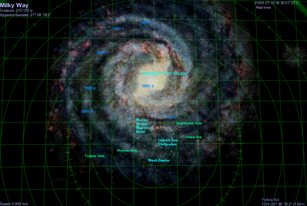 Orions Arm Encyclopedia Galactica Maps Of The Terragen Sphere - Orion star map